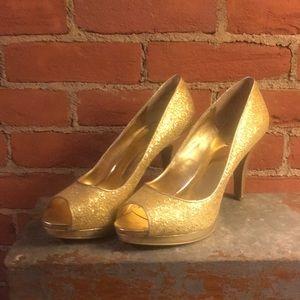 Gold glitter High heel